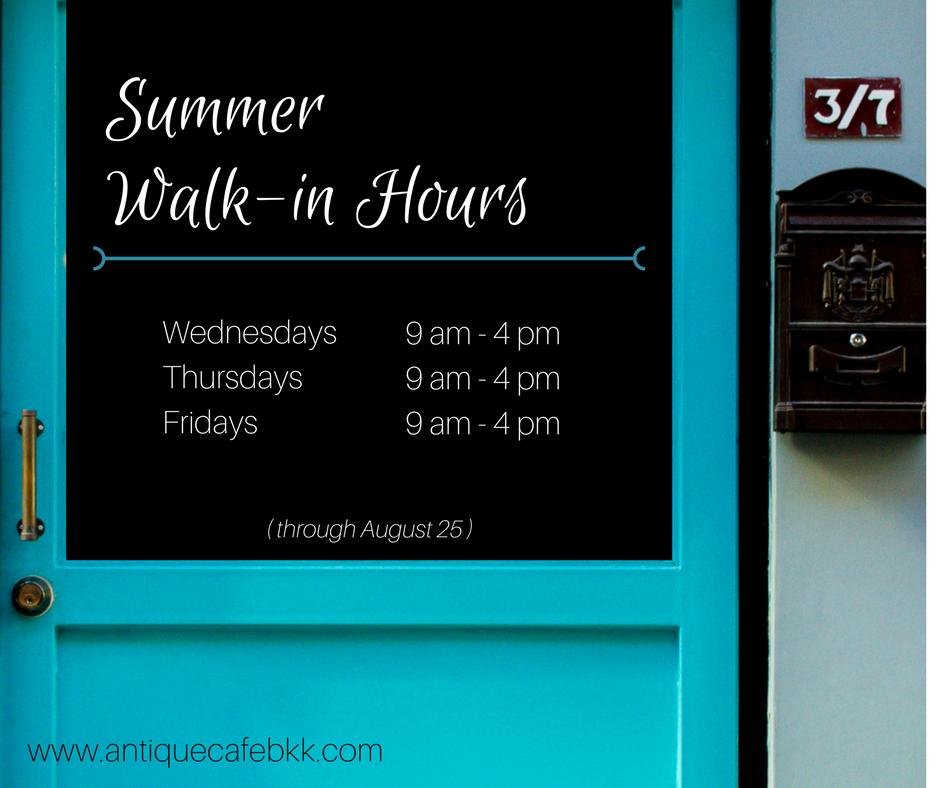 Summer Walkin Hours