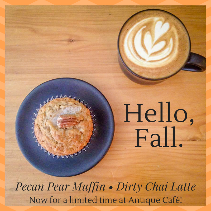 Pecan Pear Muffin+ Dirty Chai Latte-2